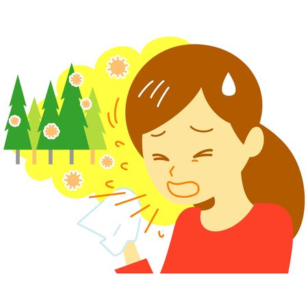 hay fever, sneezing, woman
