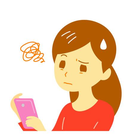 디지털 눈의 피로감, 스마트 폰, 여성