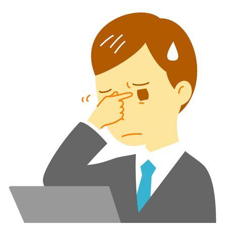 디지털 눈의 피로감, 컴퓨터, 사람 스톡 콘텐츠
