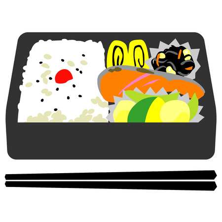 Japanese box lunch Stock Photo - 88172598