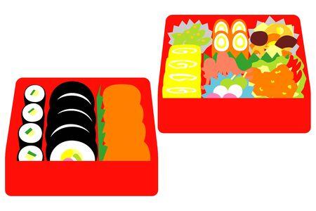 일본식 박스 런치, 피크닉 런치 스톡 콘텐츠