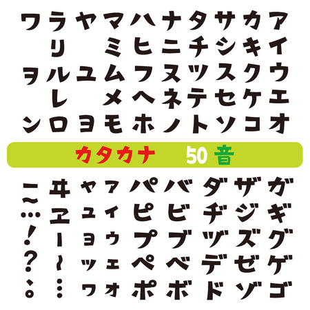 Japanese katakana fonts