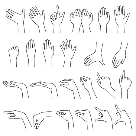 Hand gestures Stock Illustratie