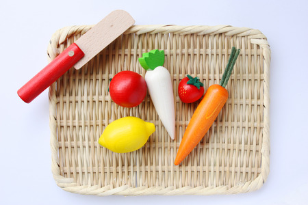 Wooden toy _ vegetables photo