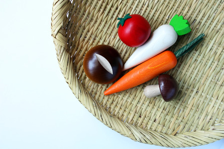 Vegetables of wooden toys photo
