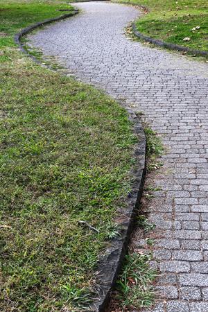 pedestrian: Pedestrian path Stock Photo