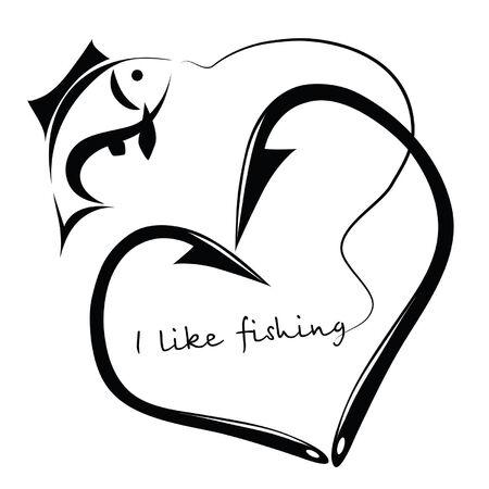 釣りが好き  イラスト・ベクター素材