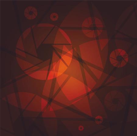 shutter aperture: Colorful shutter aperture background Illustration