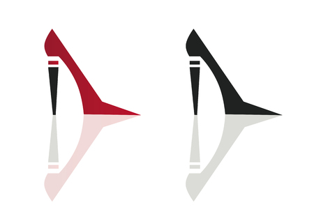 sophistication: high heel shoes vector icon