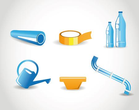plastic pipe: products containing polyethylene Illustration