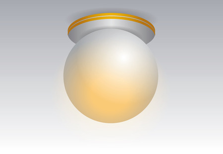 ceiling lamp: White round litting ceiling lamp