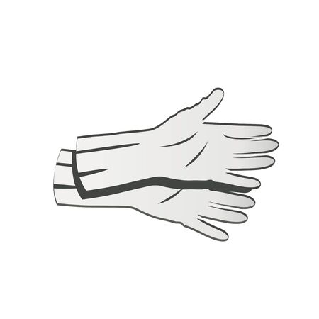 rubber gloves: grey rubber gloves icon