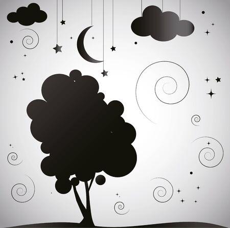 night: night background Illustration
