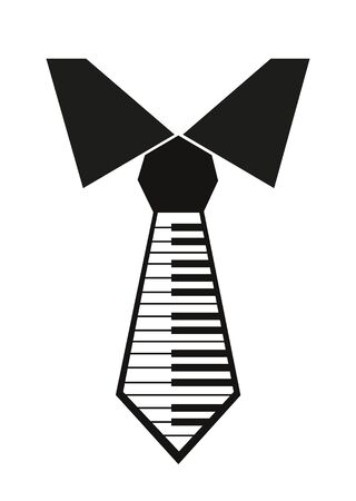 medium group of people: tie with a picture of piano keys