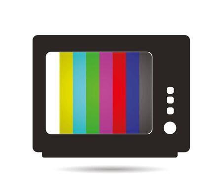 cartoons television: broken TV illustration