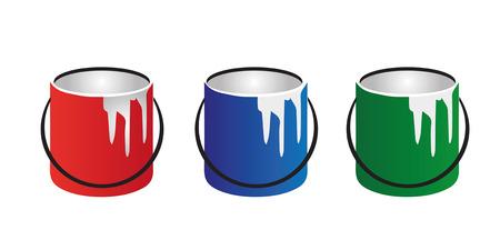 substances: color paint cans