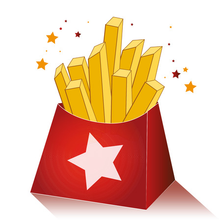 flavorful: french fries Illustration