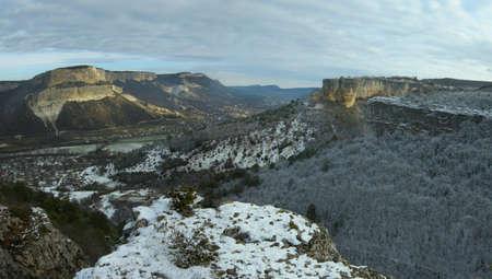 Crimean mountains a river Belbek valley Stock Photo - 4067586