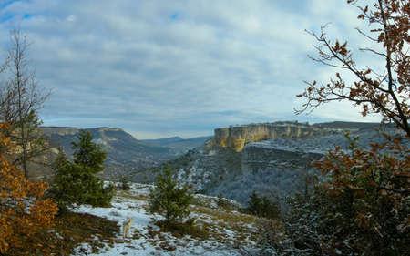 Crimean mountains a river Belbek valley Stock Photo - 4067576