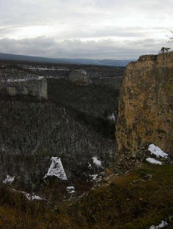 Crimean mountains a river Belbek valley Stock Photo - 4067562