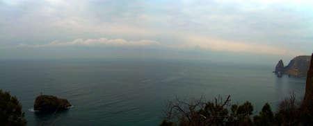 lucas: Cape Fiolent a rock of the Phenomenon Black sea Stock Photo