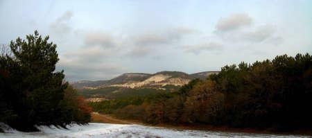 Mountain road to far solar hills photo
