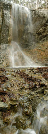 January falls in mountains of Crimea photo