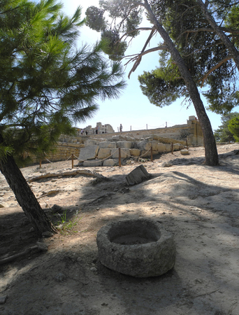 minoan: picturesque ruins of an ancient Minoan palace, Crete, Greece, the history of Europe