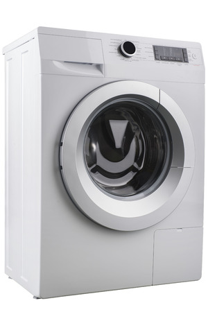 solated on white: New solated washing machine on a white background