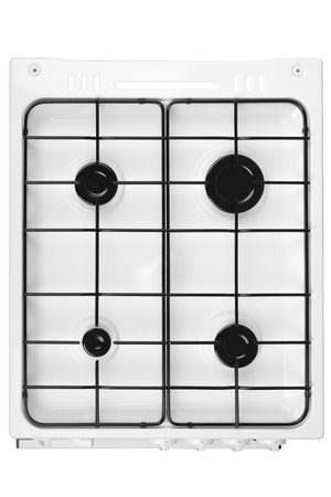 bakeoven: New white gas stove isolated on a white background