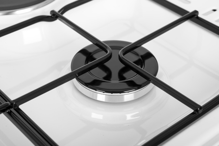 New white gas stove isolated on a white background