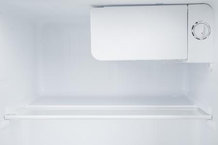 major household appliance: New white refrigerator isolated on white background Stock Photo