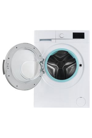 Nueva lavadora aislado sobre un fondo blanco.