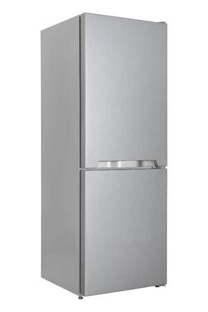 Nouveau réfrigérateur isolé sur fond blanc. Cuisine moderne et gros électroménagers