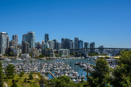 Beautiful view downtown of Vancouver