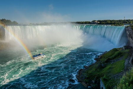 Niagara Falls, boat and Rainbow