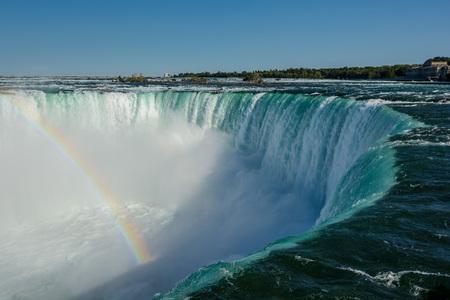 Niagara Falls, horseshoe and Rainbow Stock Photo