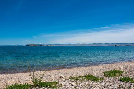 Oltrek island Maloe More strait, lake Baikal