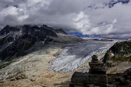 Glaciers in Rocky Mountains. The Nice view in Canada. Stok Fotoğraf