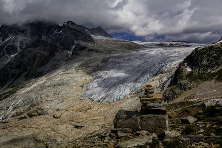 Glaciers in Rocky Mountains