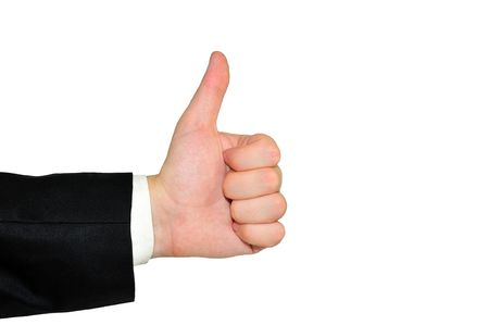 isolated male hand showing the sign ok Stock Photo - 7354709