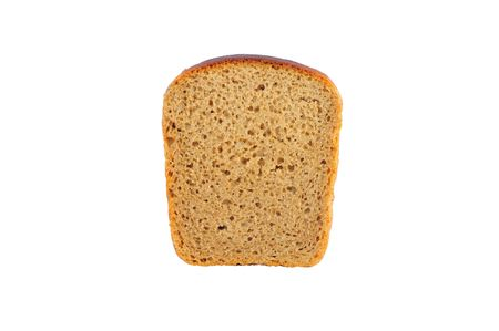 wheat toast: Close up of isolated piece of bread