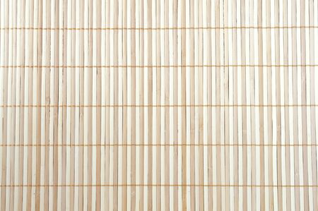 beige striped background of a wooden mat photo