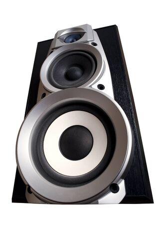isolated loudspeaker - acoustic electronic equipment on white Stock Photo - 11835709