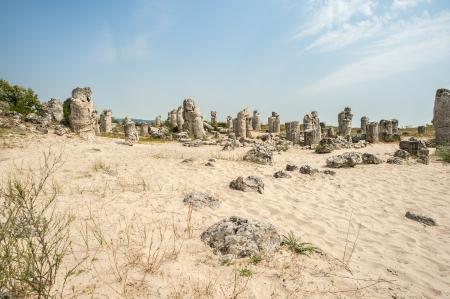 현상: The rock phenomenon Pobiti Kamani  Stone forest