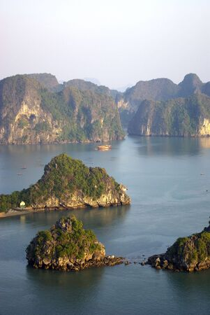 End of afternoon in Halong bay 写真素材