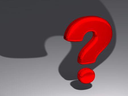point d interrogation: Point d'interrogation rouge et grands Banque d'images