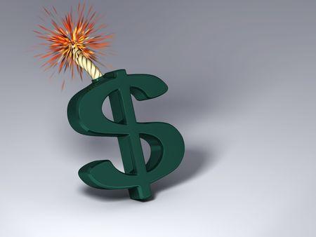 Dollar that'll explode Stock Photo - 6251165
