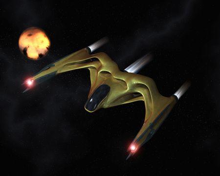 space ship: Organic spaceship