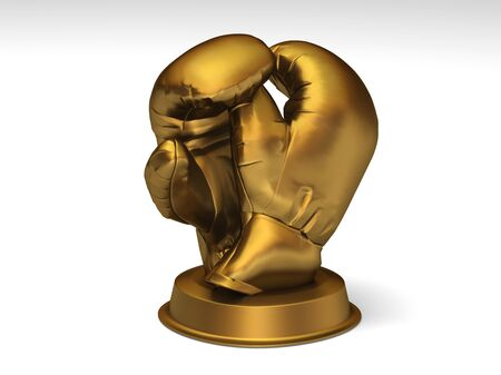 Closeup on a golden boxing trophy Stock Photo - 6952482